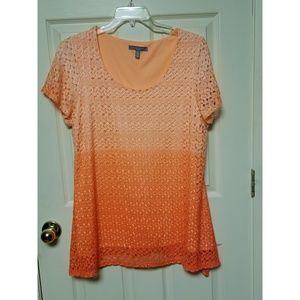 🌻Plus Size🌻 1X NY Collection Orange Top
